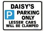 DAISY'S Personalised Parking Sign Gift | Unique Car Present for Her |  Size Large - Metal faced